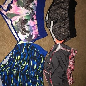 4 pairs of workout shorts